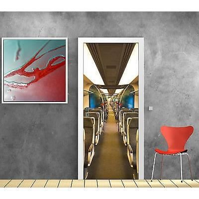Stickers Porte Trompe L Oeil Deco Interieur De Train R F
