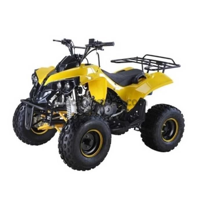 quad enfant ado 125cc 8 39 monster sport jaune achat. Black Bedroom Furniture Sets. Home Design Ideas