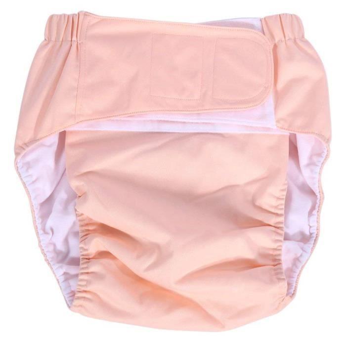 Culottes dincontinence Adultes Couche ajustable en Tissu Lavable r/éutilisable Soins dincontinence pour Vieillards Gamme de taille Grand Adulte Couche Jaune