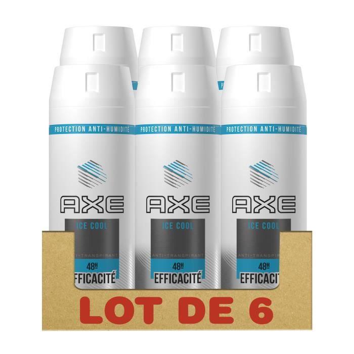 DÉODORANT AXE Lot de 6 Déodorants Homme Ice Cool Efficacité