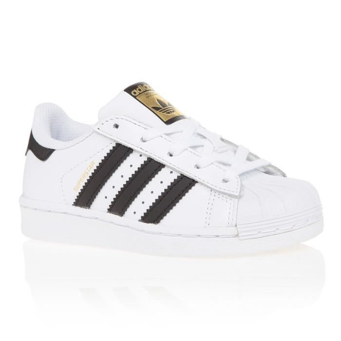 ADIDAS Baskets Superstar - Enfant - Blanc et noir