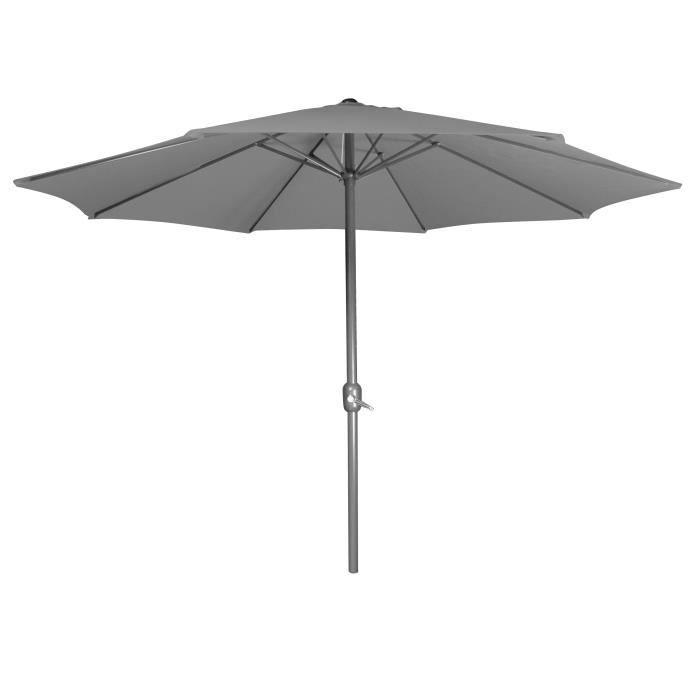 parasol droit gris achat vente parasol parasol droit gris cdiscount. Black Bedroom Furniture Sets. Home Design Ideas