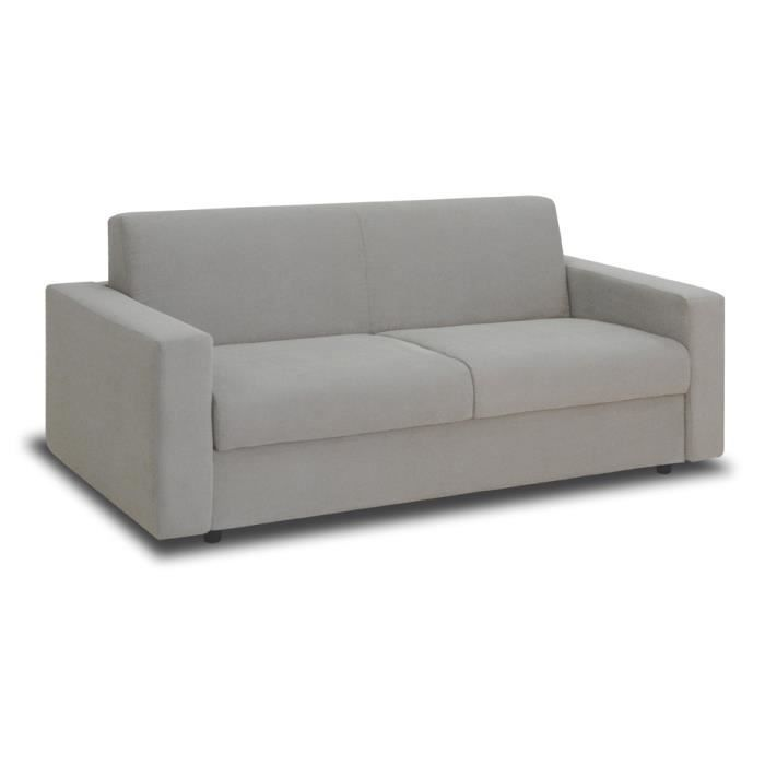 Canap convertible manitoba 3 places gris achat vente canap sofa div - Canape convertible c discount ...