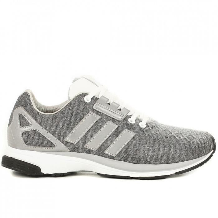 Basket Adidas ZX Flux Tech Gris .
