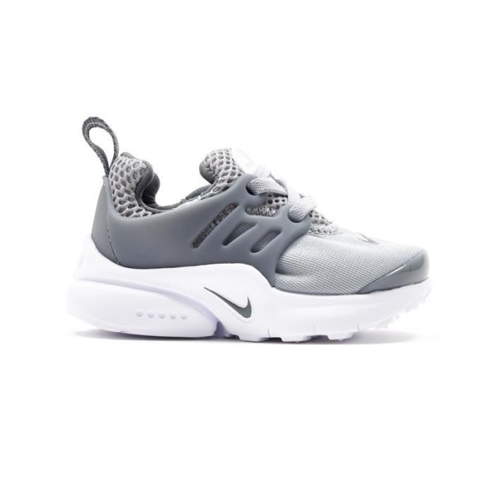 basket nike little presto enfant age enfant couleur gris genre mixte gris gris achat. Black Bedroom Furniture Sets. Home Design Ideas