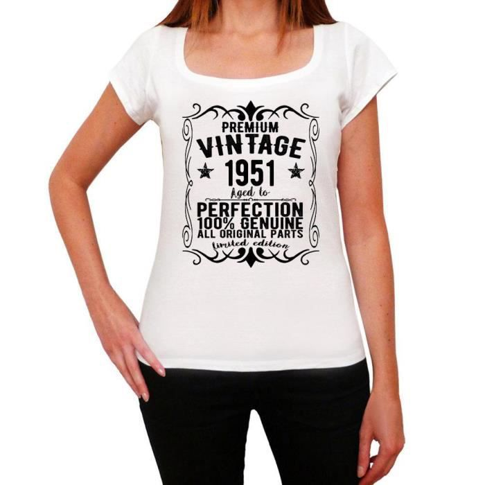 Vintage 1951 aged to perfection Femme T-Shirt 14 couleur