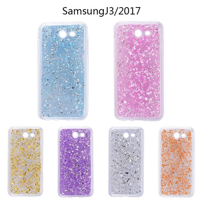 coque samsung galaxy j3 2017 silicone bling bling gliter paillette souple protecteur bleu. Black Bedroom Furniture Sets. Home Design Ideas
