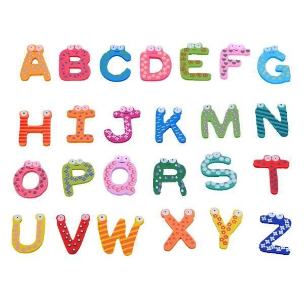 26 a z lettre alphabet frigo aimant sticker magnet magn tique enfant educatif f achat vente. Black Bedroom Furniture Sets. Home Design Ideas