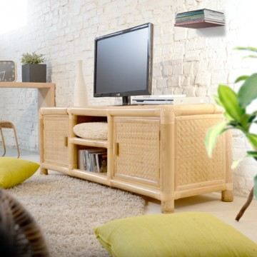 meuble tv bambou pas cher table de lit. Black Bedroom Furniture Sets. Home Design Ideas