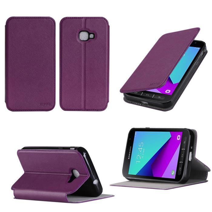 Etui coque Samsung Galaxy Xcover 4 violet - Housse pochette
