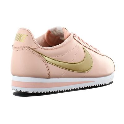 Femmes or Sneaker Chaussures Baskets Leather Cortez Nike 807471 800 Orange Classic fpxwUXnqTv
