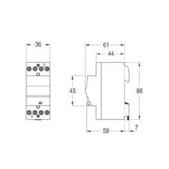 Relais Contacteur 24A avec bobine 24V