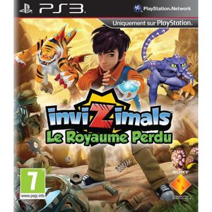 CONSOLE PS3 PACK PS3 12GO ROUGE + INVIZIMALS LE ROYAUME PERDU