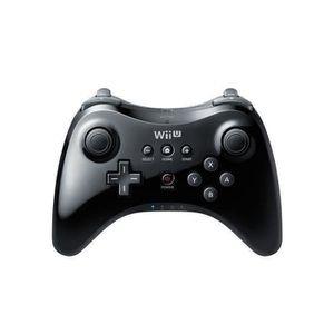 MANETTE JEUX VIDÉO Wii Manette Classique Wii U Pro-Noire