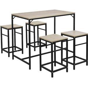MANGE-DEBOUT Table de bistrot Salle à Manger avec 4 chaises |Ta