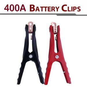 OUTIL DE DIAGNOSTIC 2pcs 400A Clips de test de batterie Booster pinces