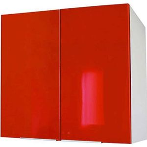 ÉLÉMENTS HAUT Meuble de cuisine haut 2 portes - 80cm - Rouge - É