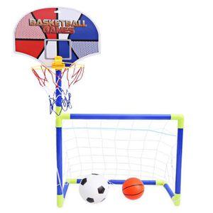 MINI-CAGE DE FOOTBALL Anjanle Kids Portable 2 en 1 jeu de basketball de