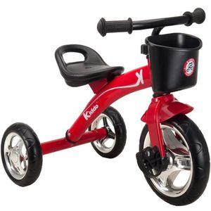 DRAISIENNE Kiddo Trike Rouge 3 Roues Smart Design Enfants Tri