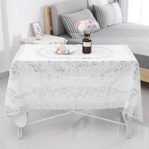 SET DE TABLE Tapis de table de forme de rectangle napperon dent
