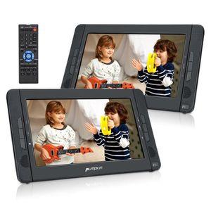 LECTEUR DVD PORTABLE PUMPKIN Lecteur DVD Portable Voiture Double Ecran
