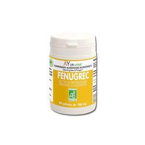 DIGESTION - TRANSIT  Fenugrec Bio - flacon de 60 gélules végétales -…