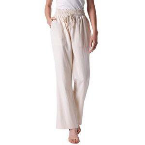 PANTALON Femmes taille haute Pantalon large coton doux et r