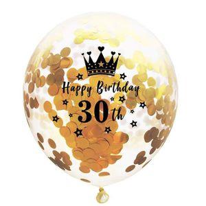 Ballon argent nombre 25 5 LOTS D = 30 cm argentées Mariage Décoration party fête