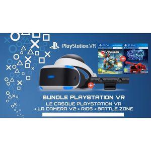 CASQUE RÉALITÉ VIRTUELLE PLAYSTATION VR (ONLY PS4) + BATTLE ZONE + RIGS + C