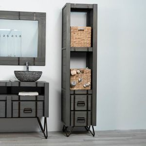 colonne metal salle de bain achat vente pas cher. Black Bedroom Furniture Sets. Home Design Ideas