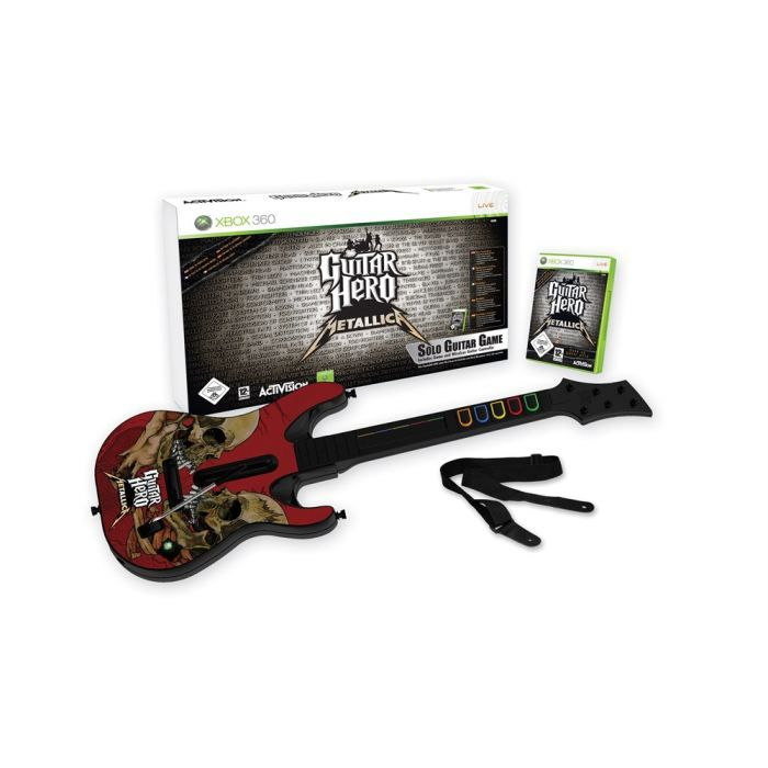 JEUX XBOX 360 PACK GUITAR HERO METALLICA (jeu + guitare) / JEU C