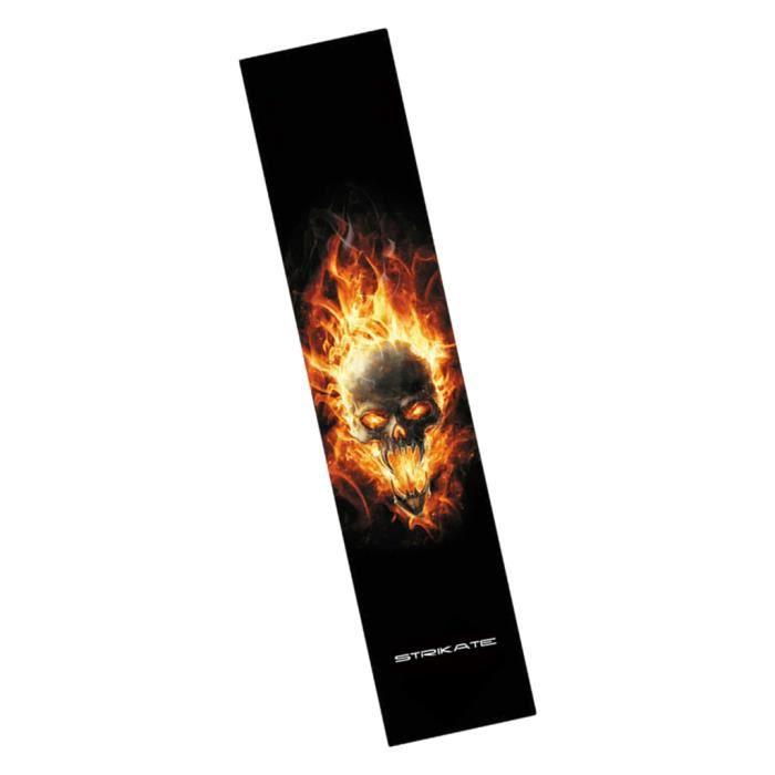 Longboard Skateboard Papier De Verre Griptape Papier De Sable Crâne Flamme