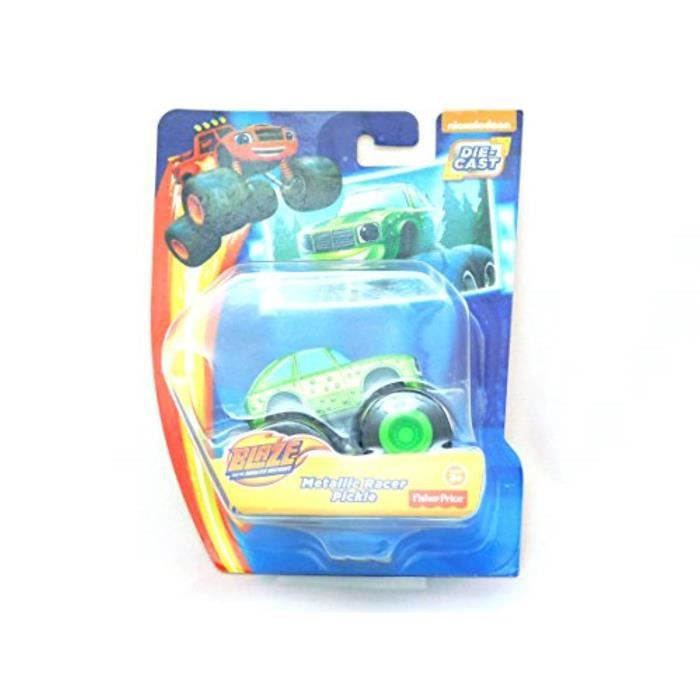 Voiture Electrique DZ8SF Nickelodeon Blaze And The Monster Machines Metallic Racer Pickle