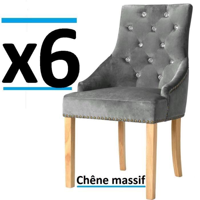 Lot de 6 chaises de salle à manger diner en velours Chêne Massif salon vintage Chateau moyen age epoque ensemble
