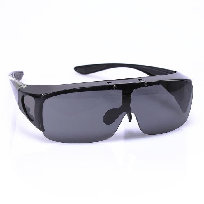 Surlunettes de soleil VITAEASY verres repliables - Modèle mixte - Teinte grise - Indice 2 (UV 400)