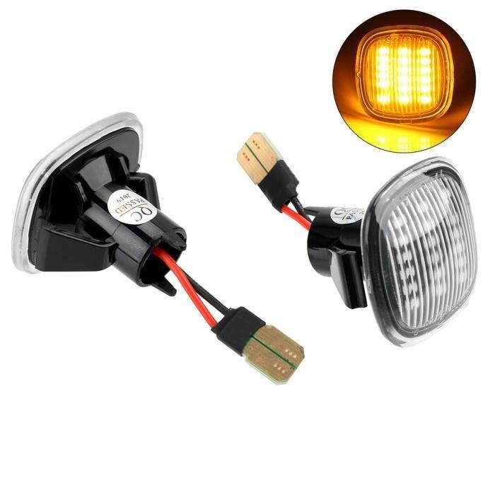 WHITE -Clignotants lampe de signalisation LED voiture côté marqueur clignotant voiture style pour Audi A3 A8L A4 8D A4 S4 B5 clignot