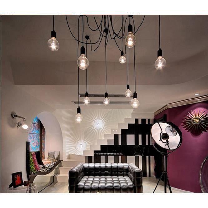12 Head E27 Retro Vintage Loft Lustre plafond Luminaires réglable Flush Mount Light Lamp L037 @ VI
