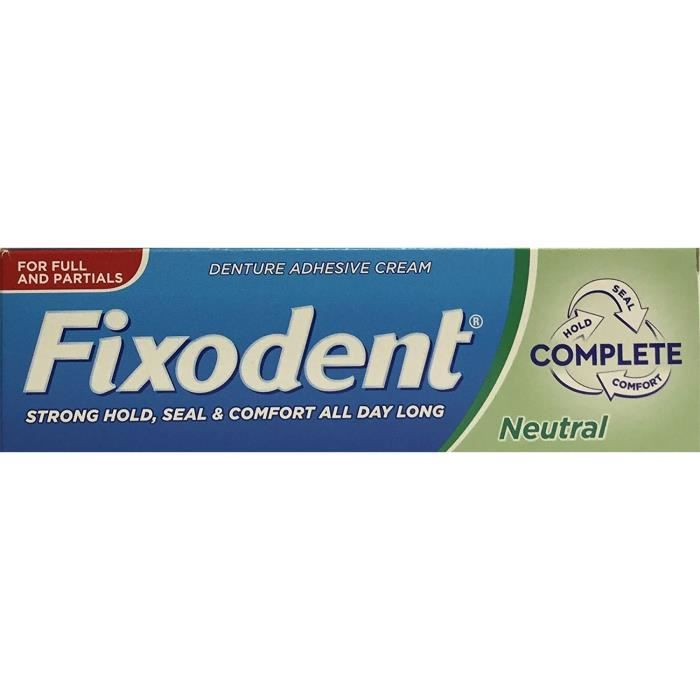 Fixodent - 3 PACKS de crème adhésive pour prothèse dentaire - goût neutre