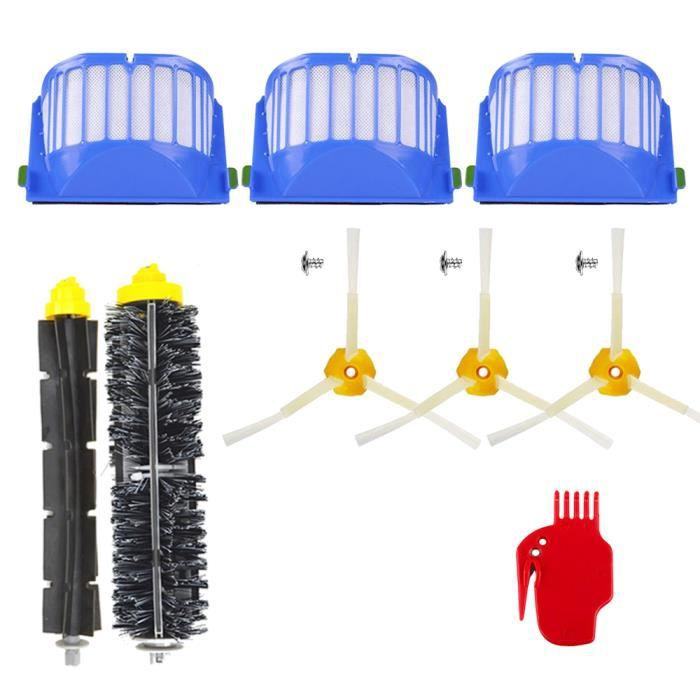 Unny 11pcs Kit Pièces accessoires Pour iRobot Roomba 500 600 700 Series 605 610 615 616 620 625 630 631 632 639 650 651 660 670 680