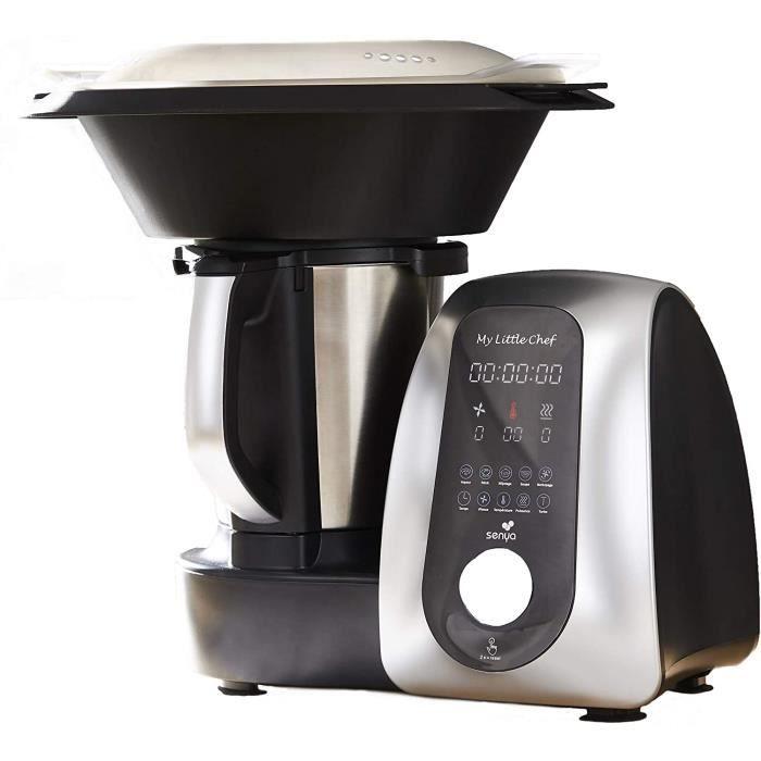 Passez la souris sur l'image pour zoomer VIDÉO Senya Robot De Cuisine Multifonction My Little Chef noir et silver, 13 progra