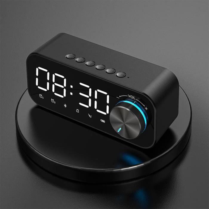 Double réveil Haut-parleur Bluetooth Lecteur de musique sans fil à LED numérique pour caisson de basses - Beguinstore 742