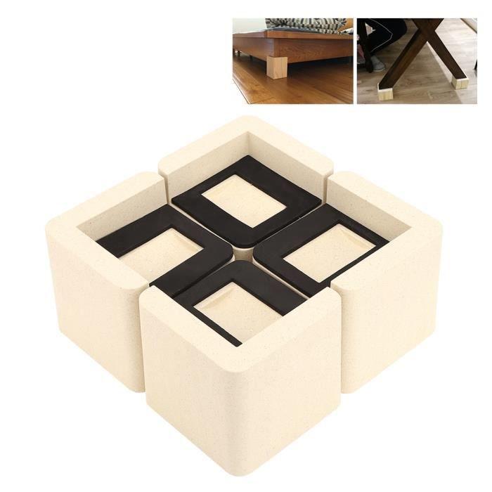 4Pcs Repose-pieds de canapé lit augmente la hauteur antidérapant multifonctionnel protecteur de monte-meubles-GOL