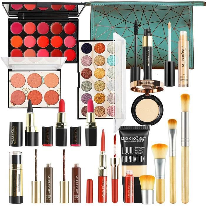 COFFRET DE MAQUILLAGE JasCherry Kit de Maquillage Mallette de Maquillage Set Coffret Cadeau Coffret Ensemble de Beauty Maquill316