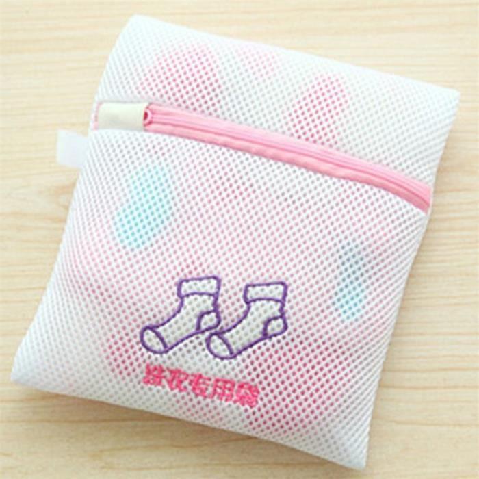 Filet De Lavage,Sac pour lavage à la Machine 1 pièce Brodé sac à Double filet pour lavage à la Machine, sous vêtements - Type sock