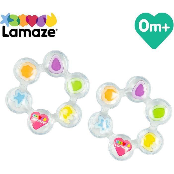 Anneaux de dentition TOMY Lamaze - Anneaux de Dentition, 2 Jouets de Dentition pour Bébé, Hochet de dentition réfrigéré, 201318