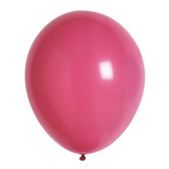 Lot de 100 ballons en latex opaque rose bonbon
