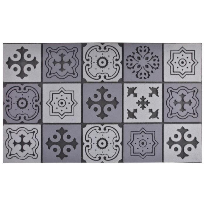 Tapis en caoutchouc motif Mosaique