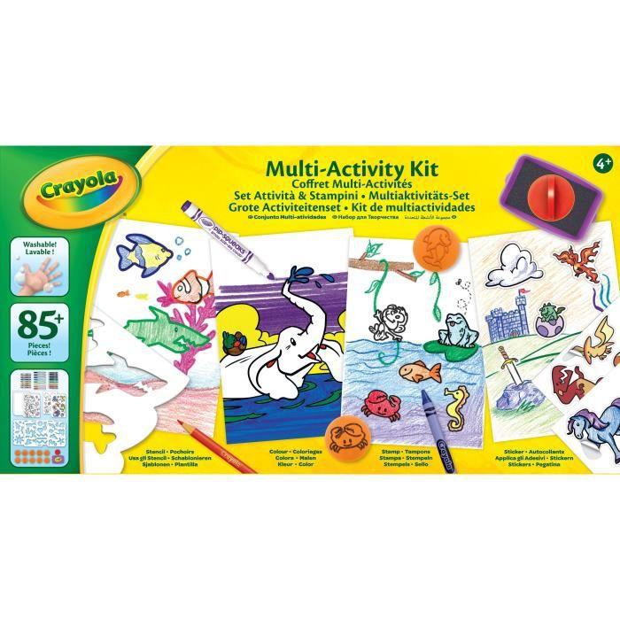 CRAYOLA - Coffret Multi-activités - Activités pour les enfants - Kit Crayola