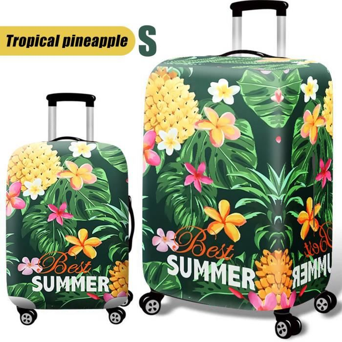 """Élastique Voyage Bagage Valise Housse Protection Ananas tropical 18&quot-20"""" S"""