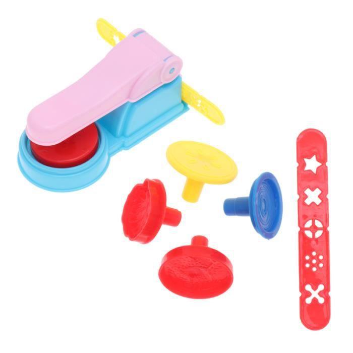 7pcs moule à pâte à modeler couleur kit de modèles de boue enfants BOITE DE RANGEMENT - BAC DE RANGEMENT OUTILS (VIDE)